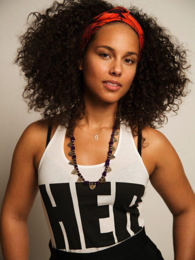 Alicia Keys Hair Style Pics