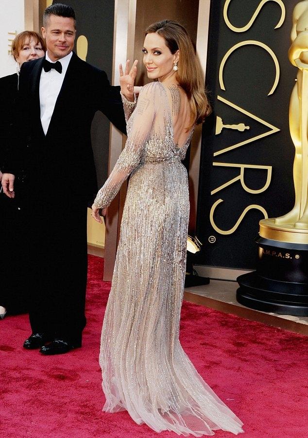 Angelina Jolie Backless Photos