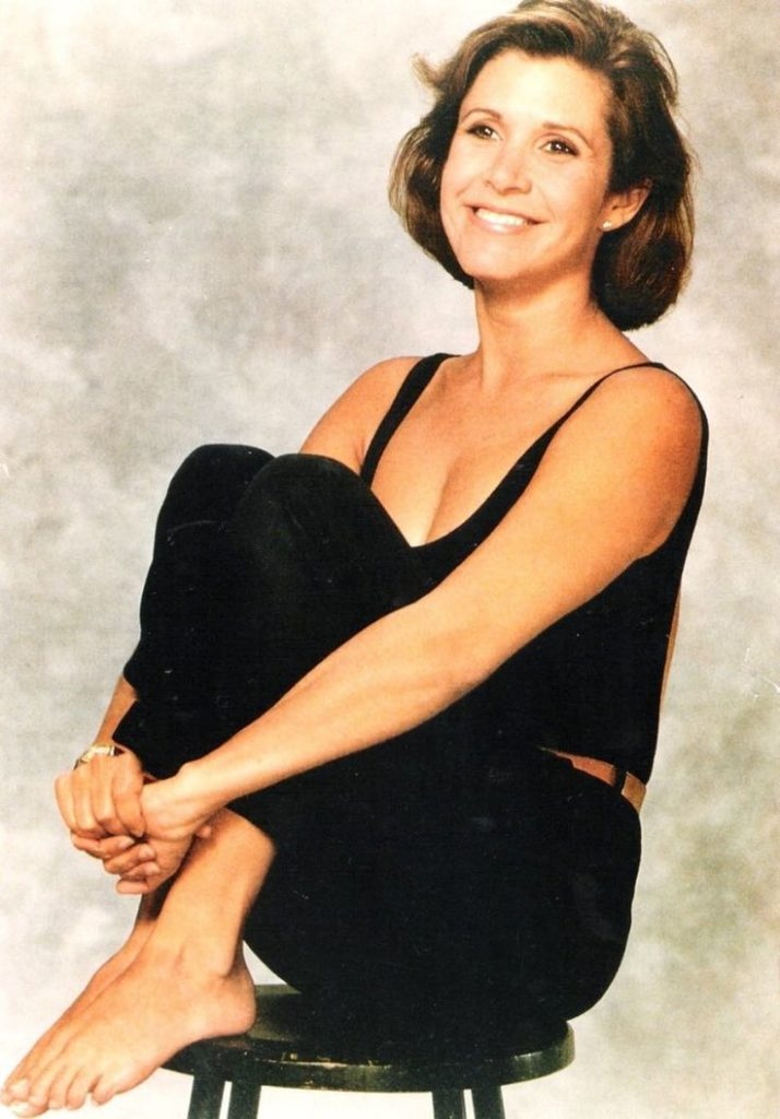Carrie Fisher Bra Photos