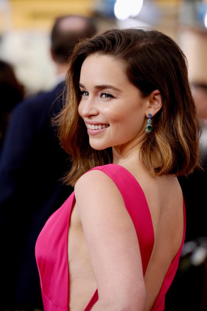 Emilia Clarke Backless Images