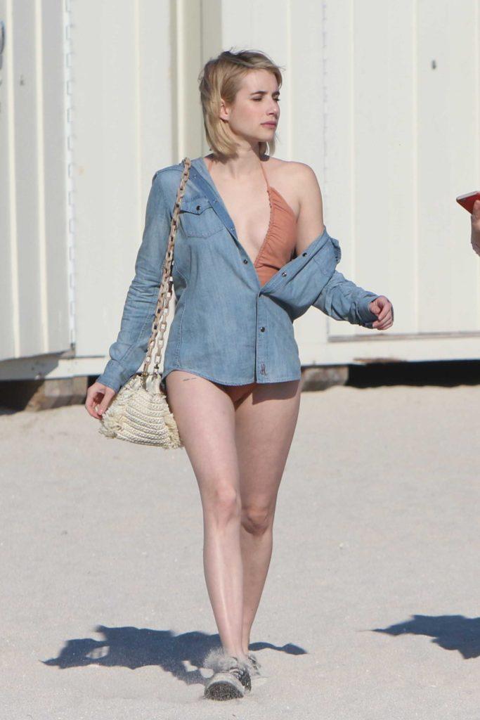 Emma Roberts Bikini Photos