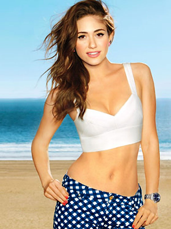 Emmy Rossum Beach Wallpapers