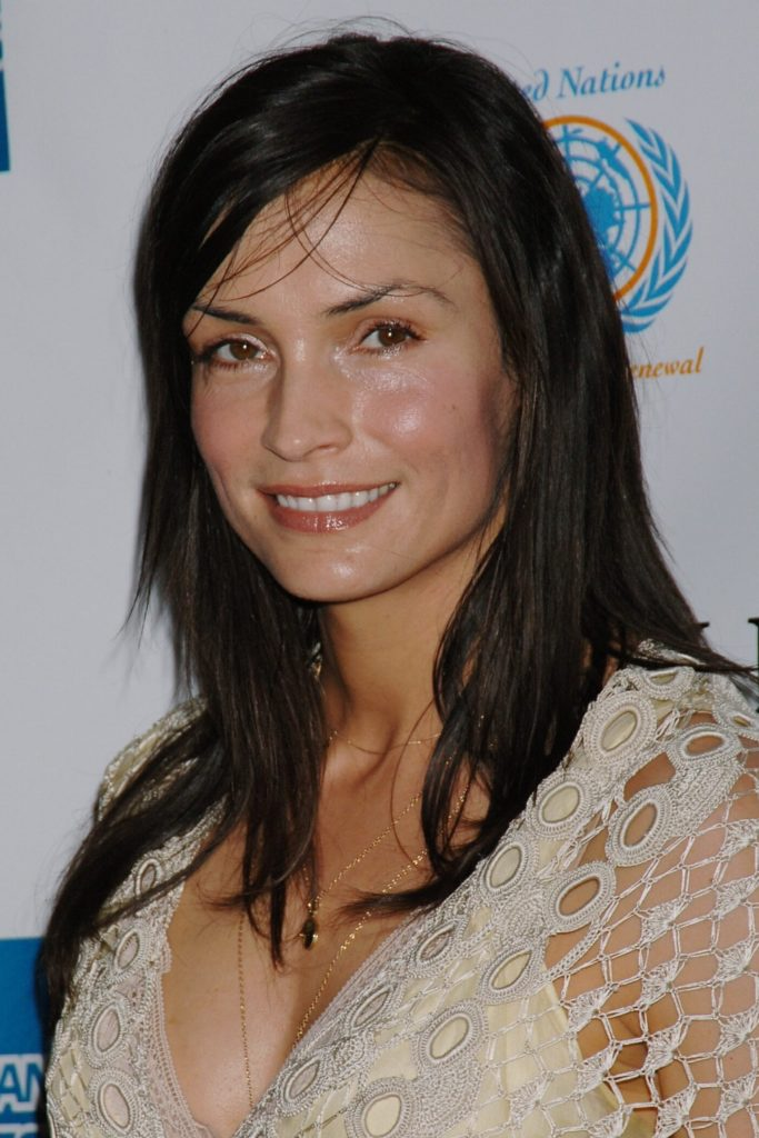 Famke Janssen Cute Smileing Wallpapers