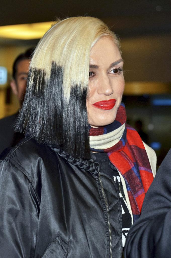 Gwen Stefani Black Blonde Hair PIcs