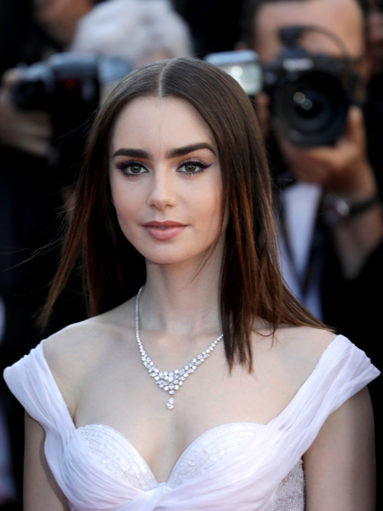 Lily Collins Bra Images