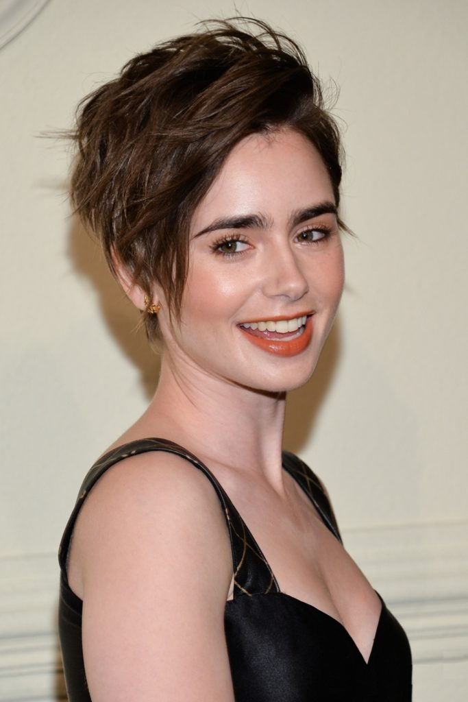 Lily Collins Braless Pics