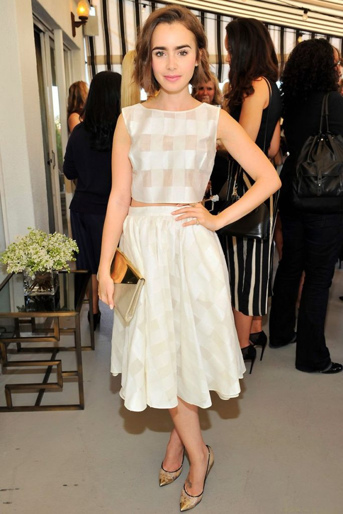 Lily Collins High Heals Images