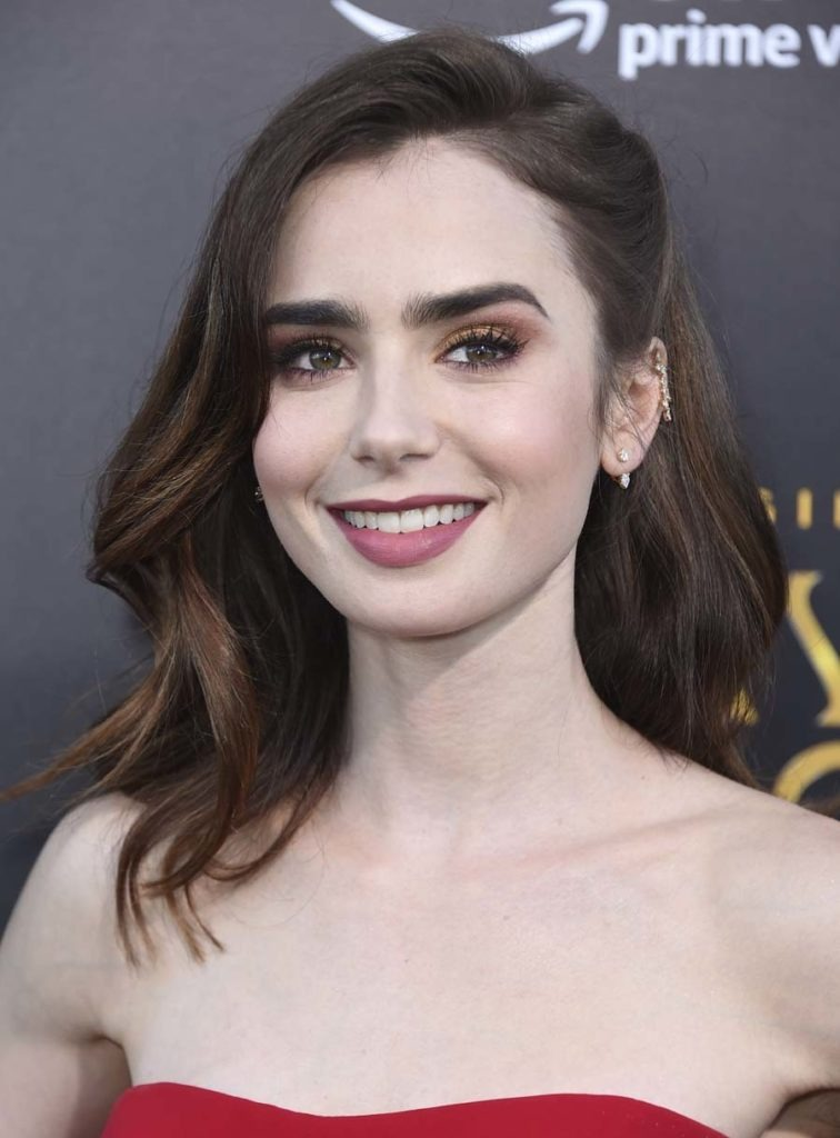 Lily Collins Smile Images