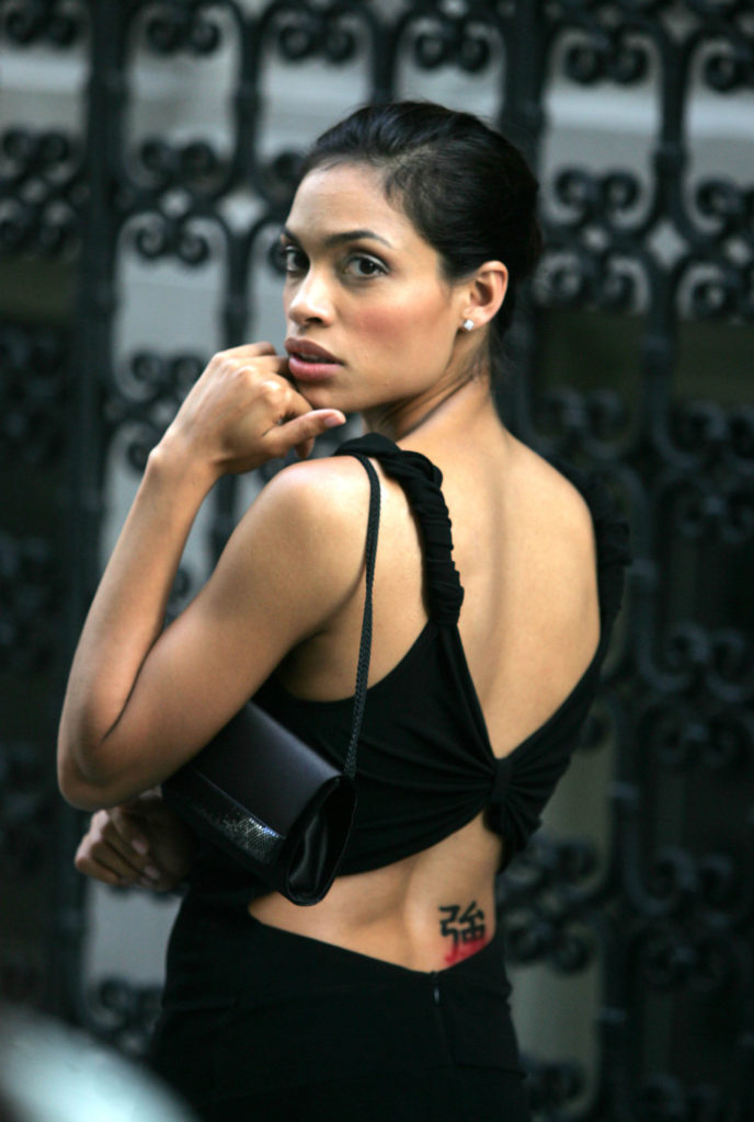 Rosario Dawson Hot Backside Backless Pics