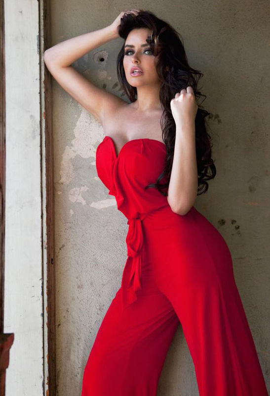 Abigail Ratchford In Red Dress Images