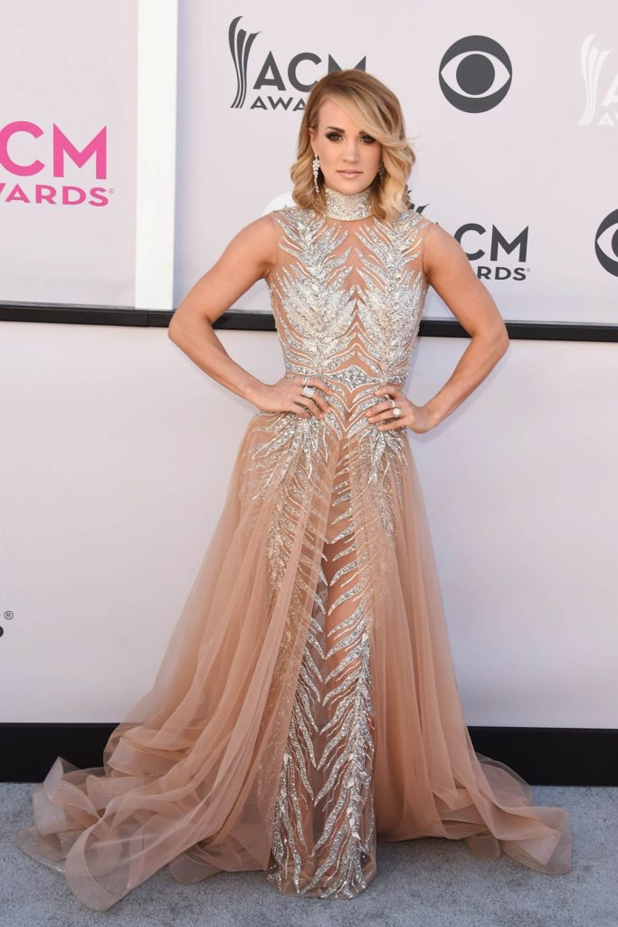 Carrie Underwood In Gown Pics At Event