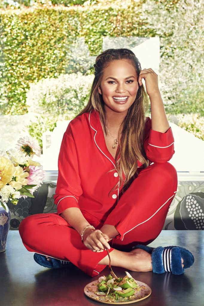 Chrissy Teigen In Red Clothes Images