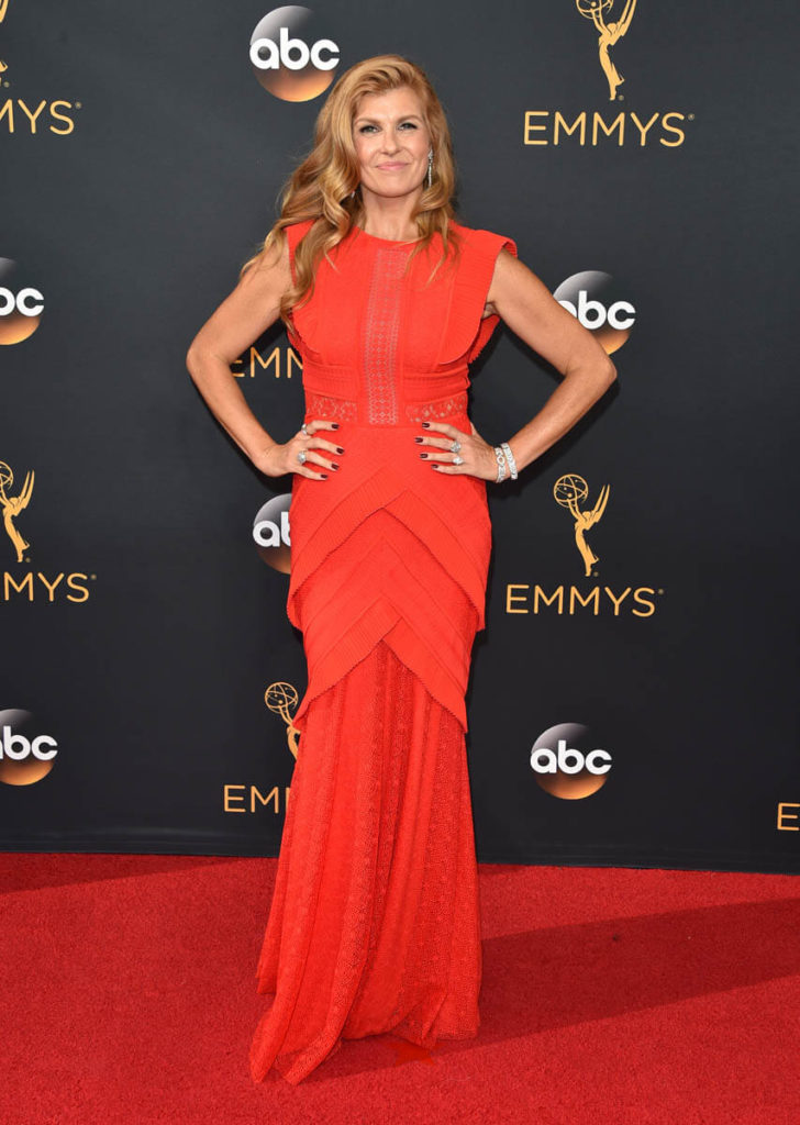 Connie Britton In Red Gown Images
