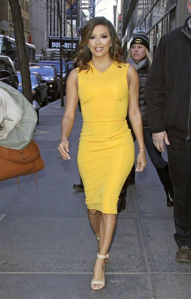 Eva Longoria In Yellow Dress Pictures