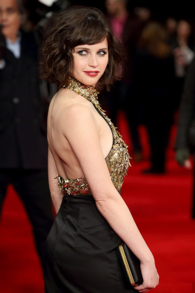 Felicity Jones Backless Images