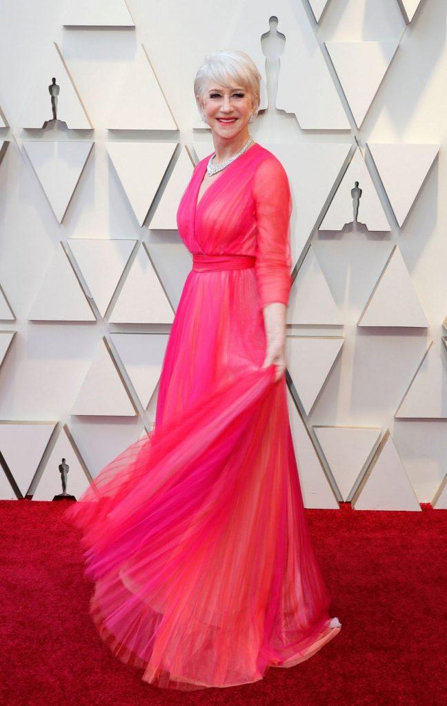 Helen Mirren Pink Gown Pics