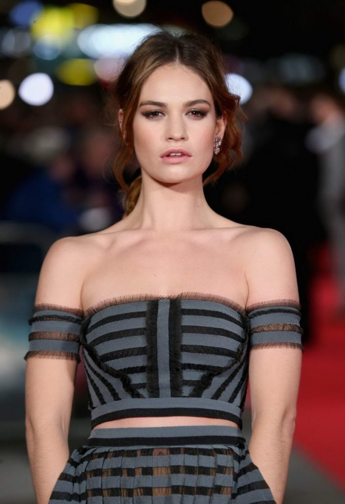 Lily-James-Bra-Images