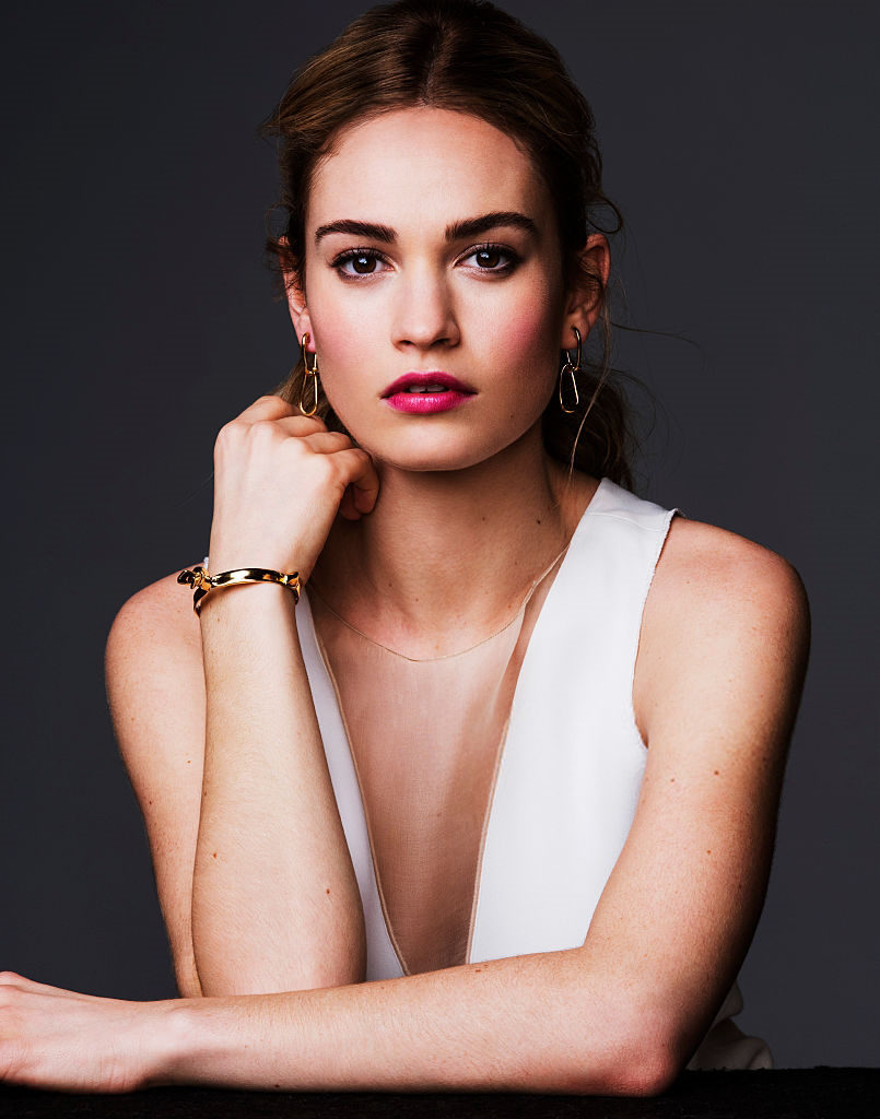 Lily-James-Braless-Images