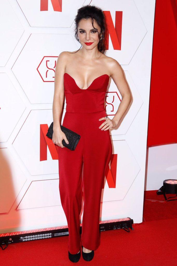 Martha Higareda In Red Dress Pics