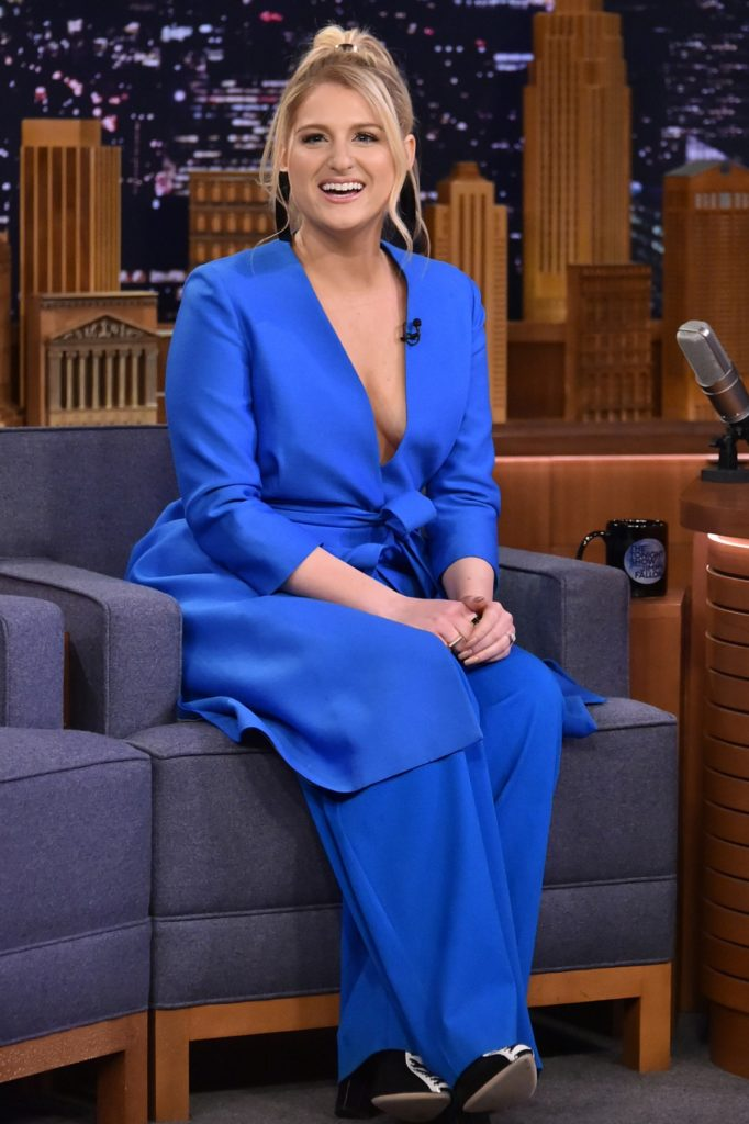 Meghan Trainor In Blue Clothes Pictures