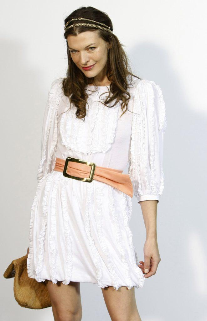 Milla Jovovich Short Dress Images