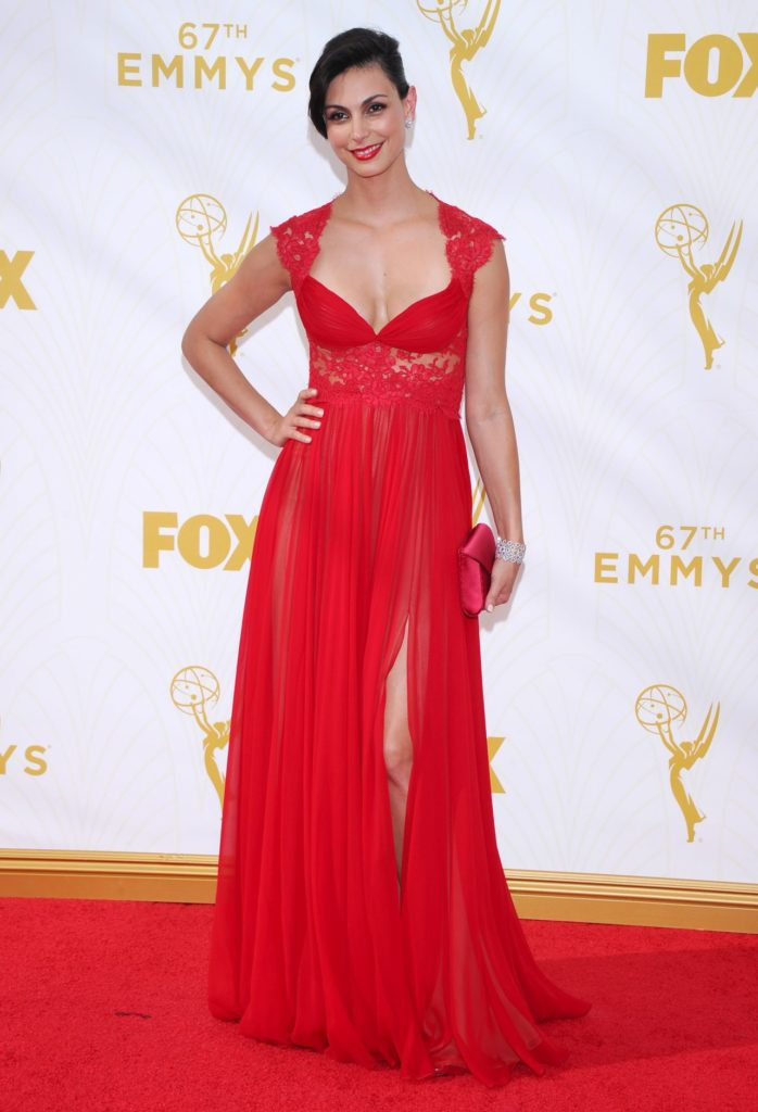 Morena Baccarin In Red Gown Pics