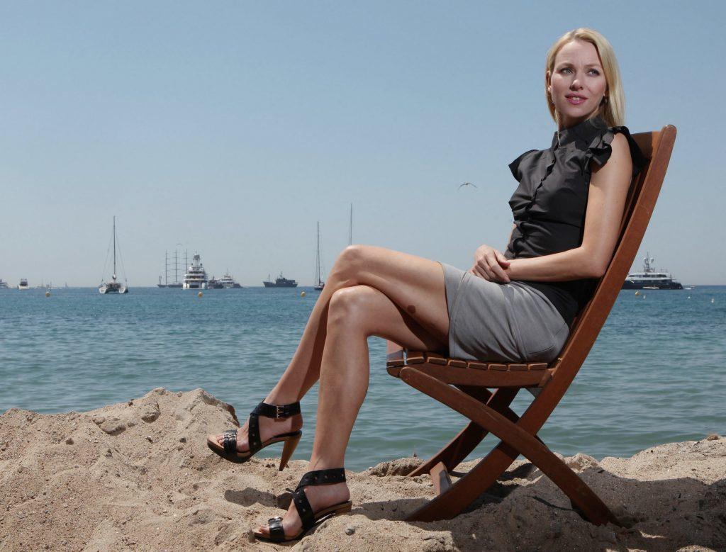 Naomi Watts In Shorts Beach Pics