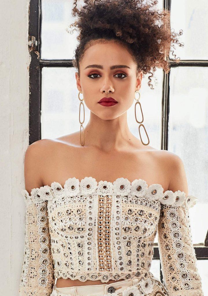 Nathalie Emmanuel In Offsholder Clothes Wallpapers