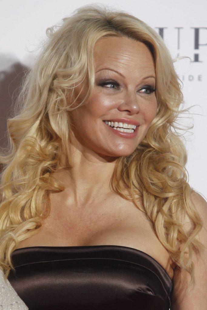 Pamela Anderson Bra Cleavage Photos