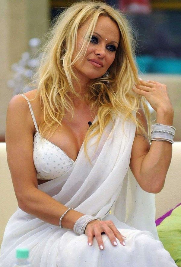 Pamela Anderson In Saree Pics