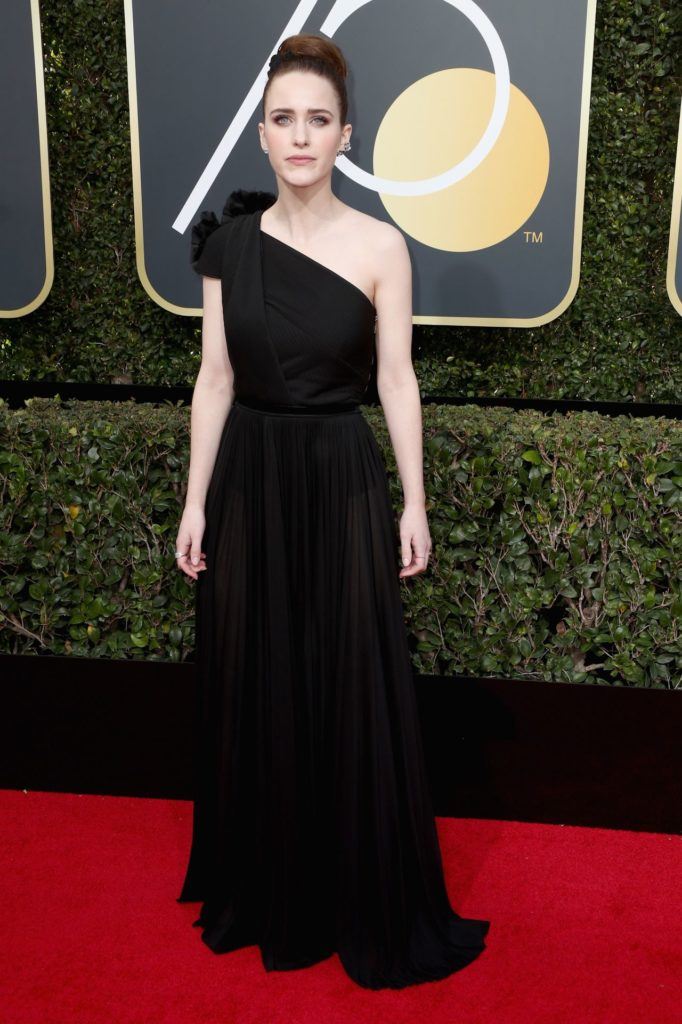 Rachel Brosnahan In Black Gown Pics