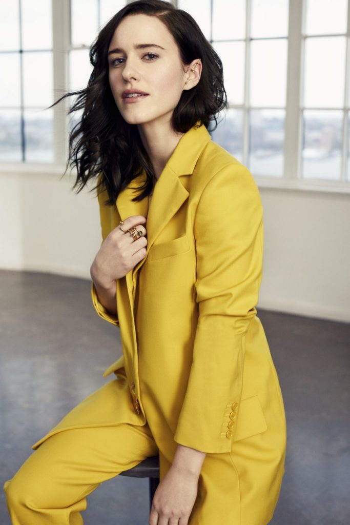 Rachel Brosnahan In Yellow Clothes Pics