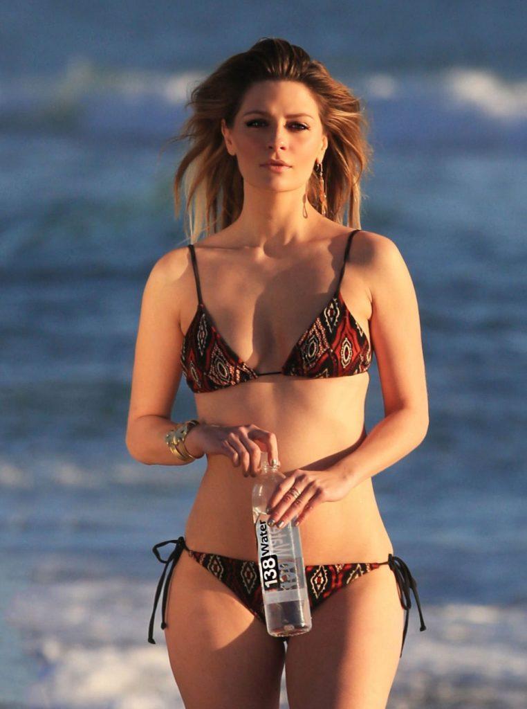 Stana Katic Bikini Bra Photos